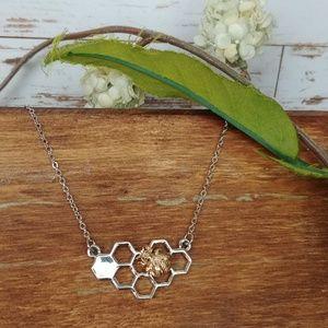 Jewelry - Honey Comb 2-Tone Necklace